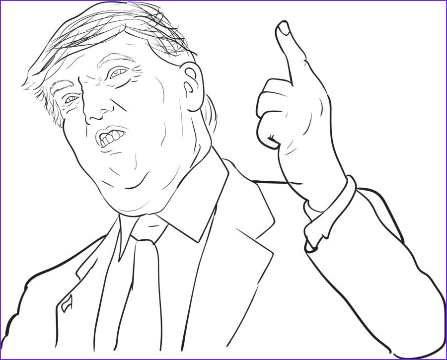 Trump Coloring Book New Image Donald Trump Coloring Pages Caricaturas