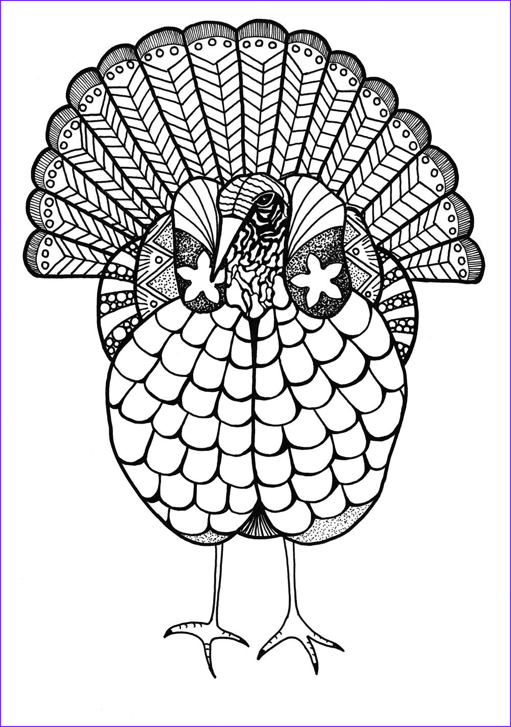 Turkey Coloring Pictures Best Of Gallery Colorful Turkey Adult Coloring Page