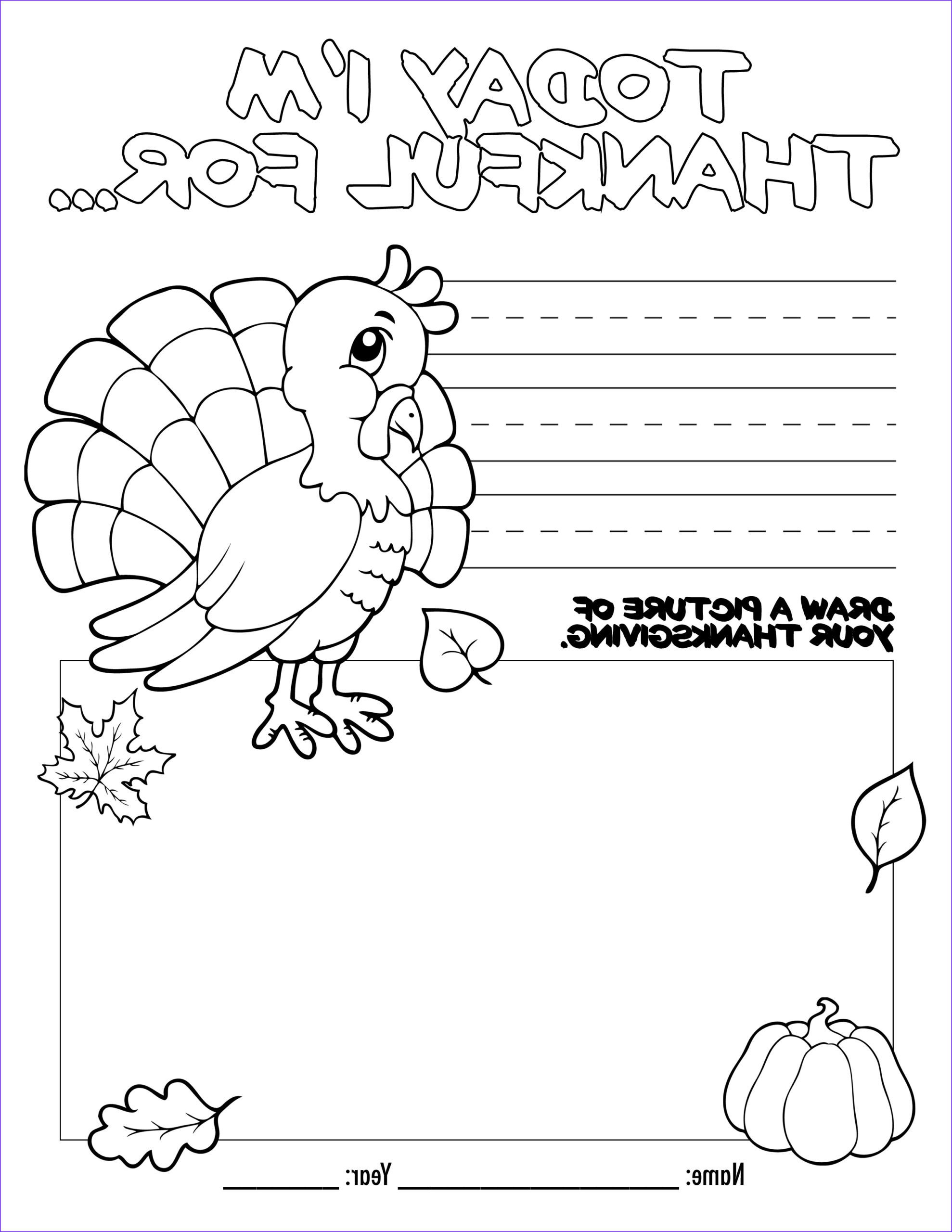 Turkey Coloring Pictures Best Of Stock Thanksgiving Coloring Book Free Printable for the Kids