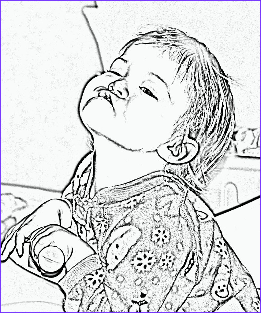convert picture into coloring page