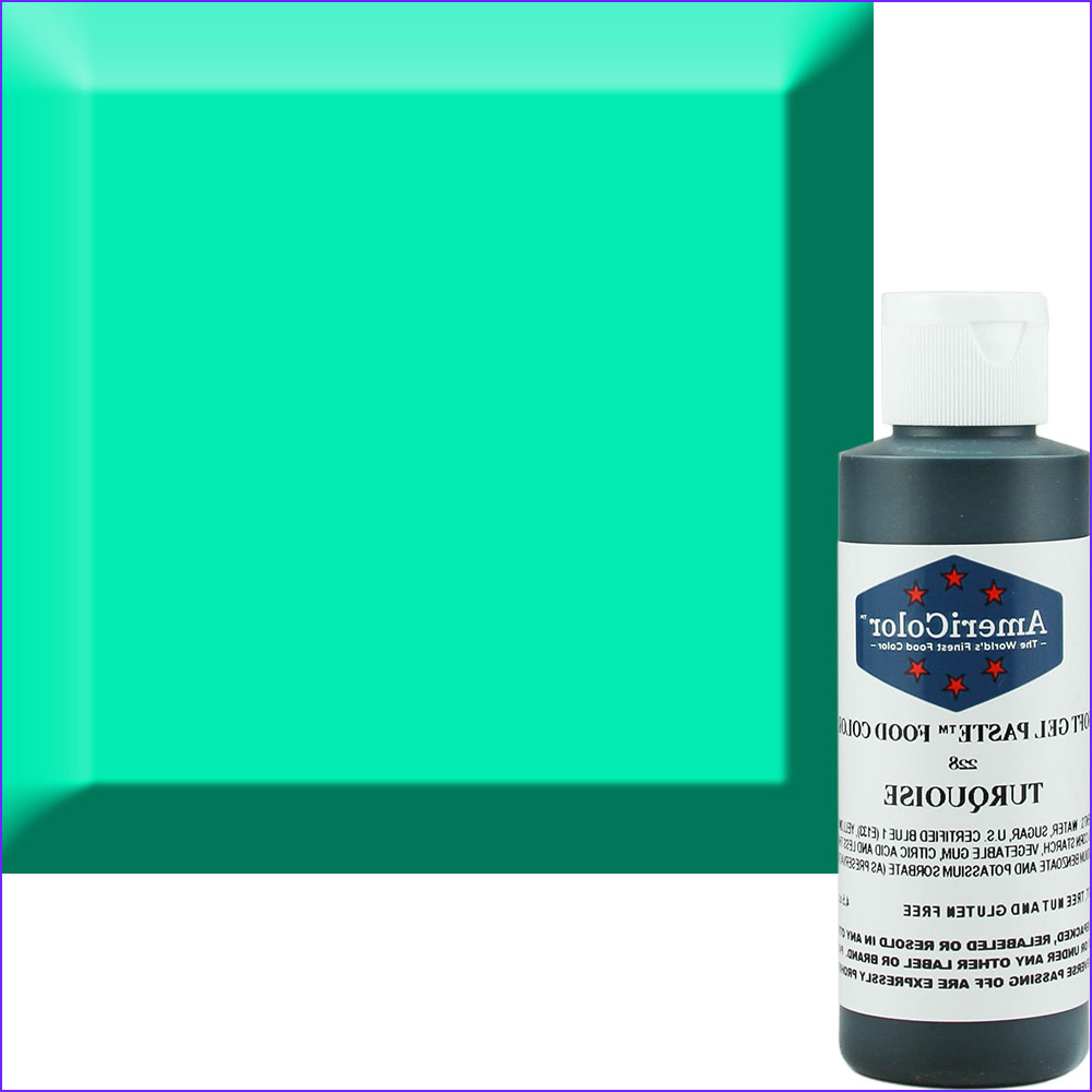 Turquoise Food Coloring Elegant Photos Turquoise Americolor soft Gel Paste™ Food Color Acr 228