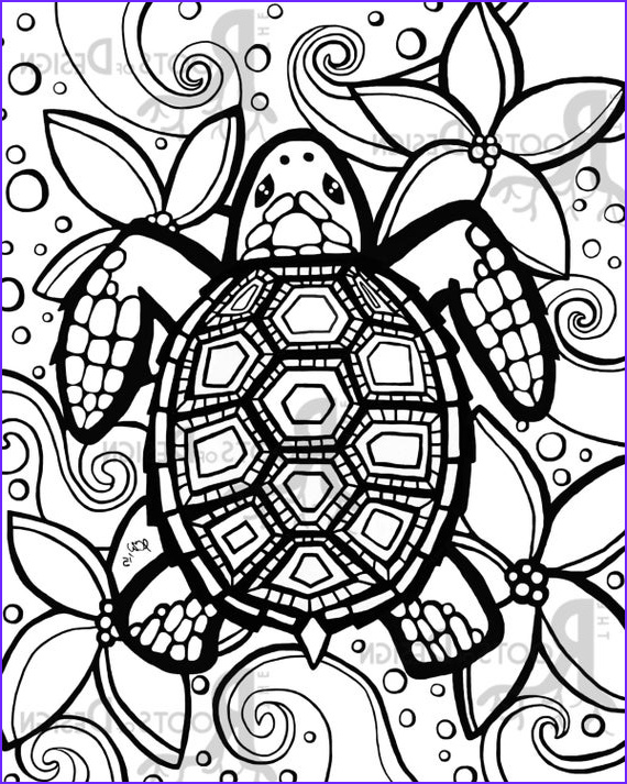 instant coloring page turtle