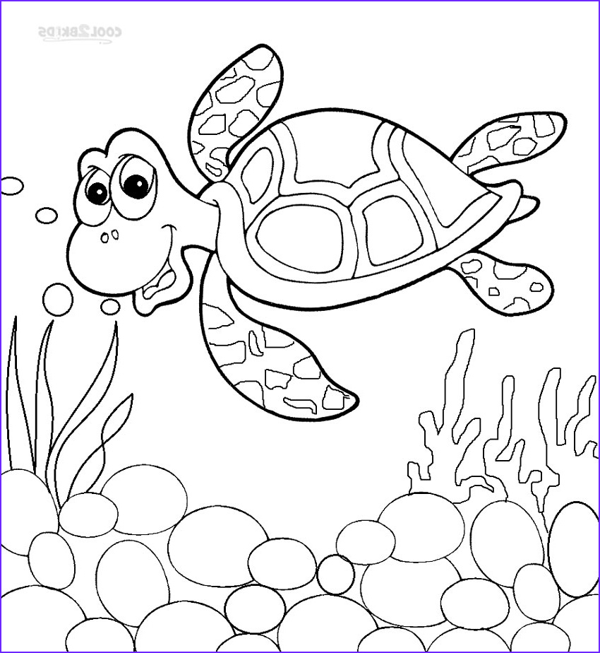 Turtle Coloring Books Elegant Photos Printable Sea Turtle Coloring Pages for Kids