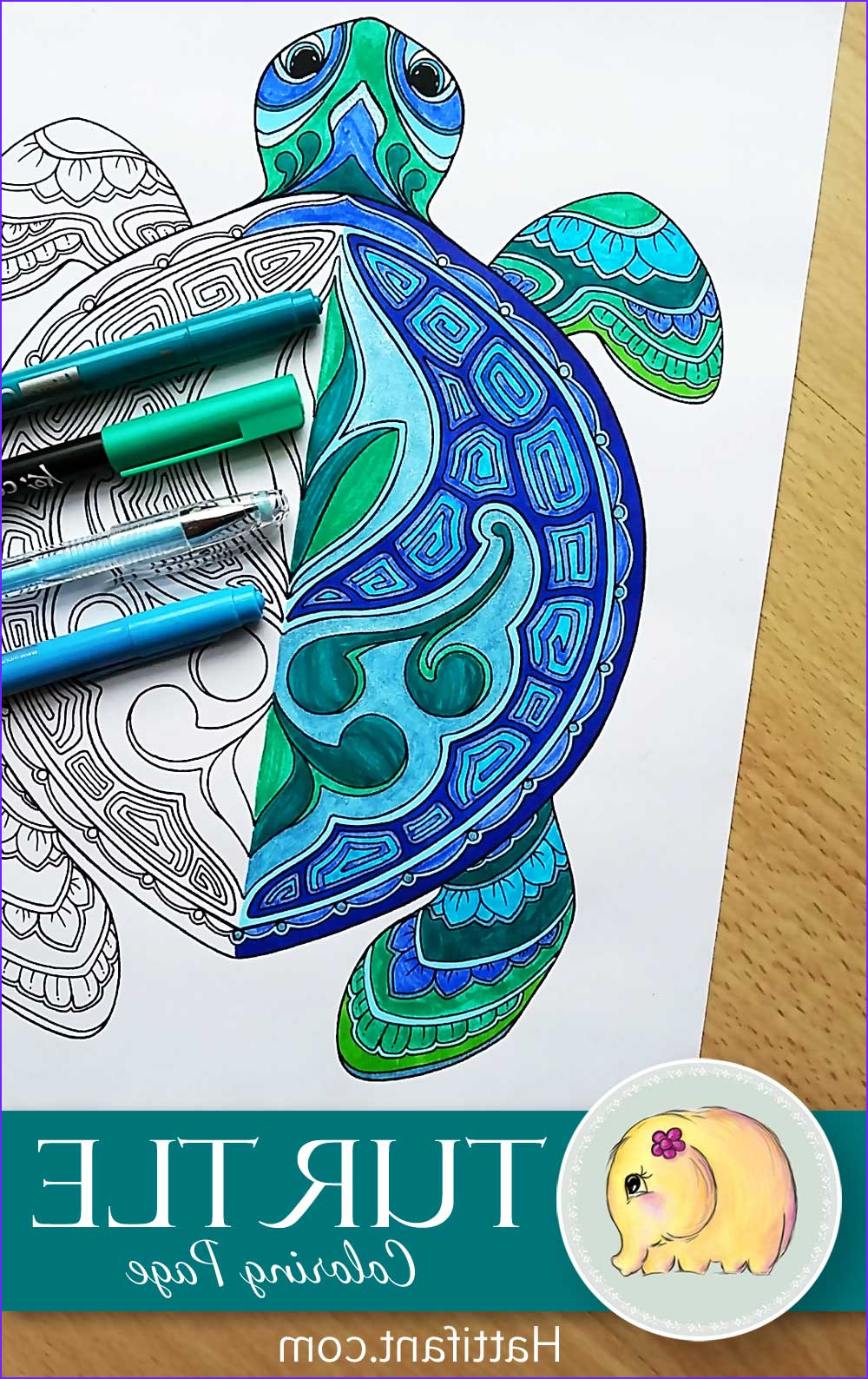 Turtle Coloring Books New Photos Hattifant S Hungry Turtle Family Hattifant