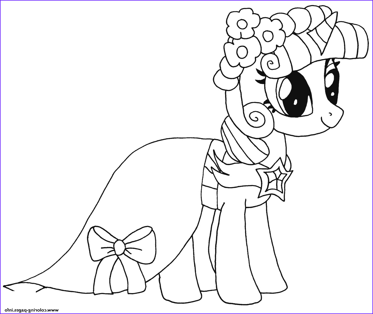 princess twilight sparkle my little pony printable coloring pages book