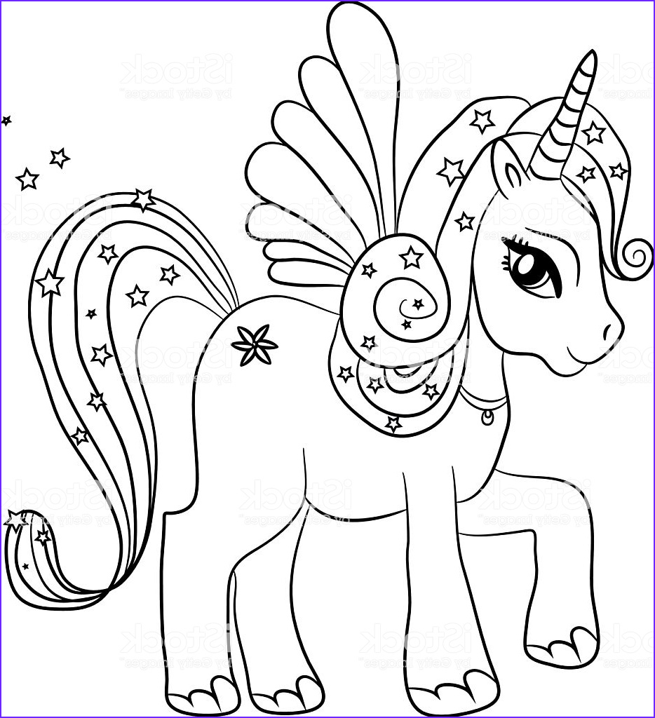 unicorn coloring page for kids gm