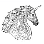 Unicorn Coloring Book Awesome Gallery Unicorn Head Simple Unicorns Adult Coloring Pages