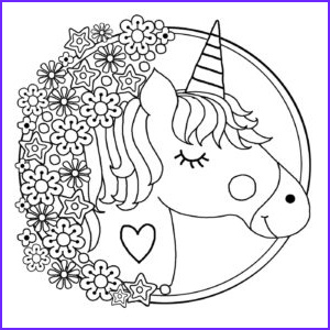 printable unicorn colouring pages for kids