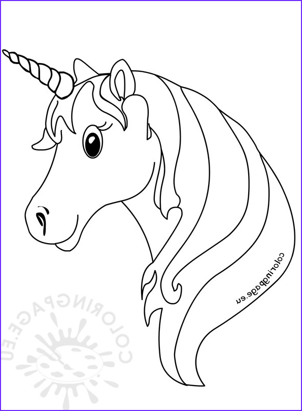 unicorn face coloring pages for kids