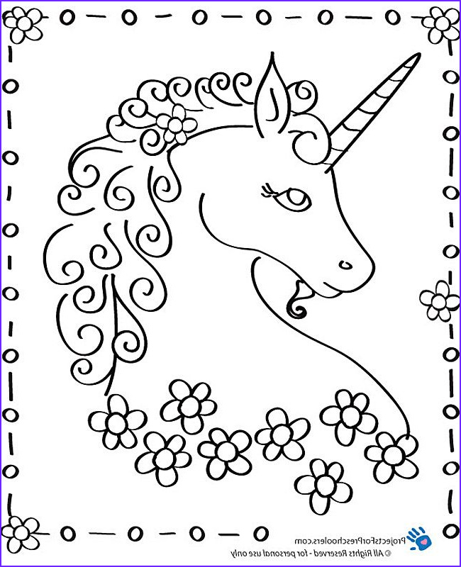 Unicorn Coloring Book New Images Free Printable Unicorn Coloring Page From