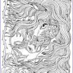 Unicorn Coloring Pages For Adults Awesome Photos Unicorn And Pearls Fantasy Coloring Page Adult Coloring