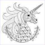 Unicorn Coloring Pages For Adults Beautiful Collection Unicorn Head With Patterns Unicorns Adult Coloring Pages