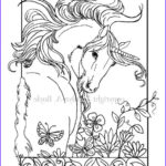 Unicorn Coloring Pages For Adults Beautiful Image Adult Coloring Page Digital Unicorn By