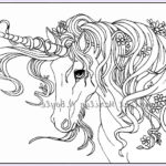 Unicorn Coloring Pages For Adults Beautiful Images Adult Coloring Page Digital Unicorn Flowers