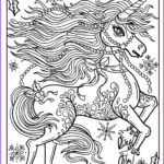 Unicorn Coloring Pages For Adults Beautiful Photography Christmas Unicorn Adult Coloring Page Coloring Book Holidays