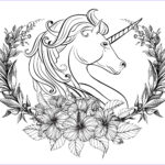 Unicorn Coloring Pages For Adults Best Of Images Licorn And Laurel Wreath Unicorns Adult Coloring Pages