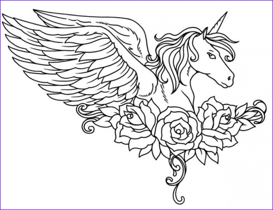 free unicorn coloring pages for adults yf864