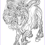 Unicorn Coloring Pages For Adults Elegant Photos Ucicorn Horse Line Work Pinterest