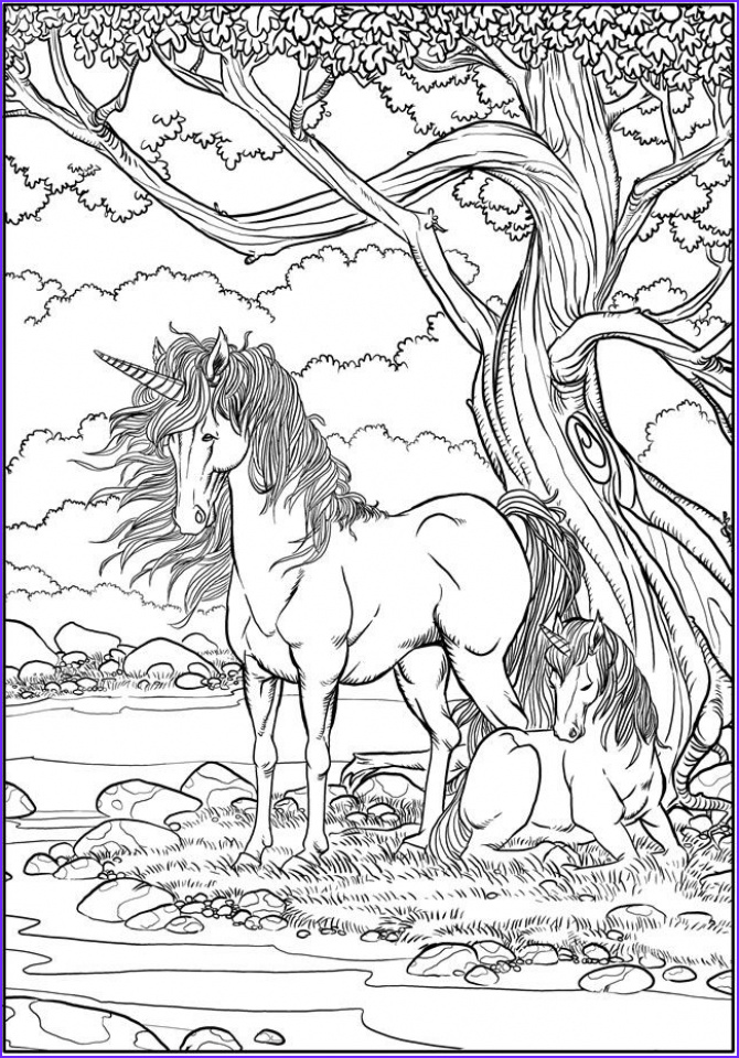 free printable unicorn coloring pages for adults 4c9v5