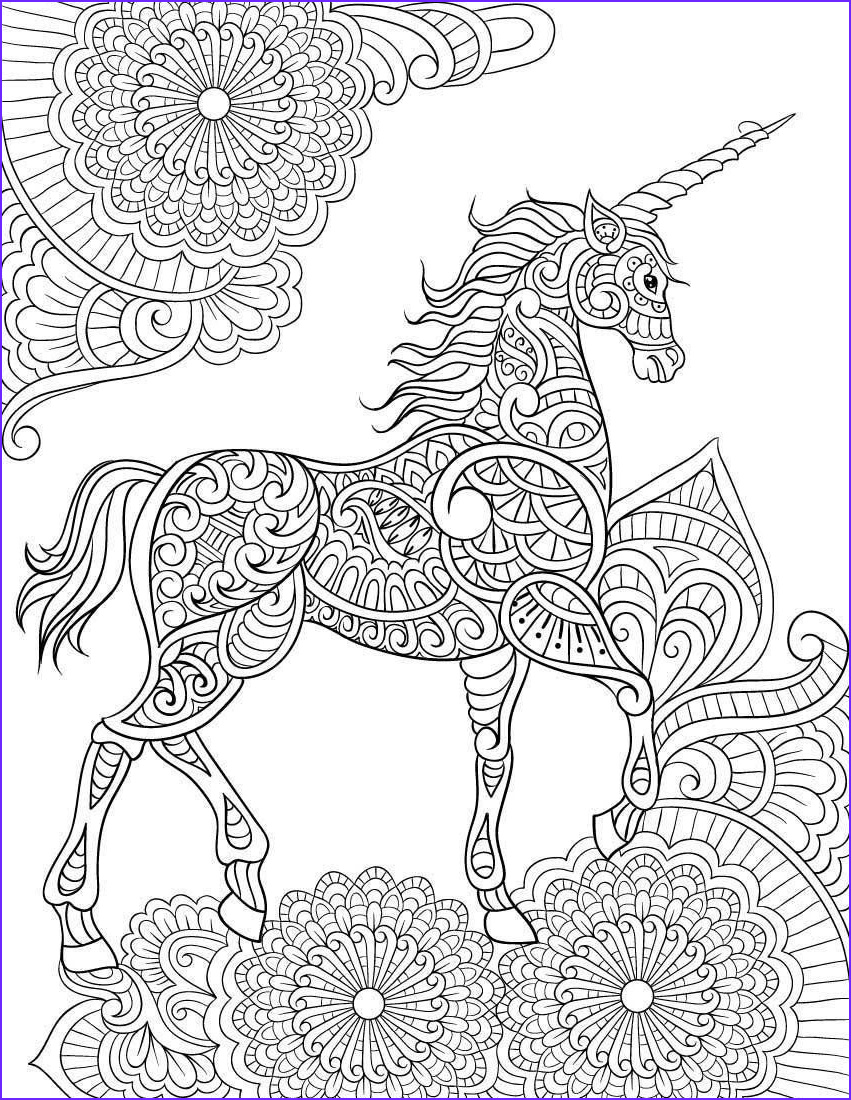 Unicorn Coloring Pages for Adults New Image Unicorn Mandala Coloring Pages