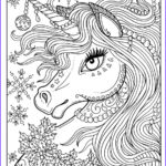 Unicorn Coloring Pages For Adults Unique Collection Unicorn Christmas Coloring Page Adult Color Book Art Fantasy