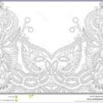 Unique Coloring Pages Awesome Stock Unique Coloring Book Page For Adults Flower Stock Vector