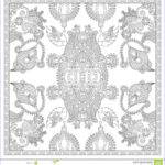 Unique Coloring Pages New Image Unique Coloring Book Square Page For Adults Stock Vector