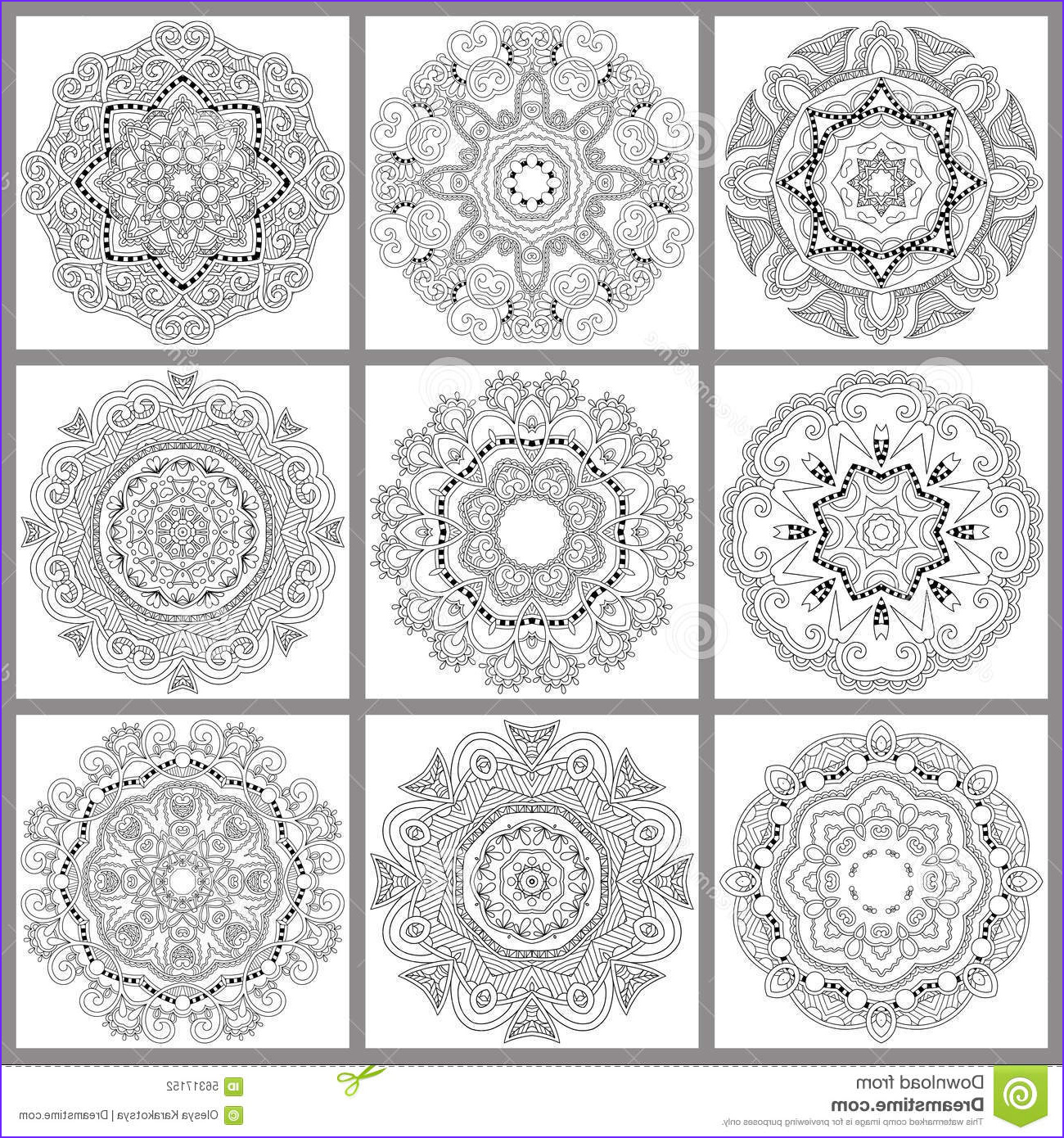 Unique Coloring Pages New Photos Unique Coloring Book Square Page for Adults Stock Vector