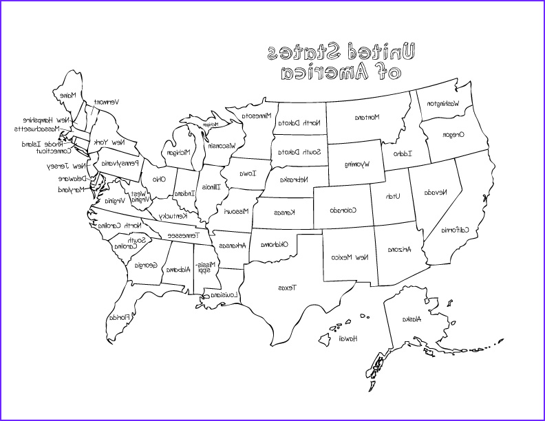 Us Coloring Map Beautiful Image Coloring Pages