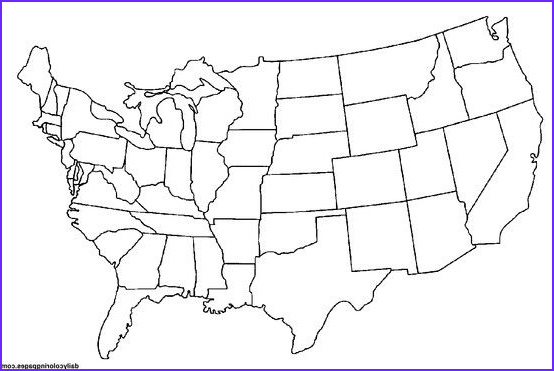 Us Coloring Map Inspirational Images United States Blank Map Crafts Pinterest