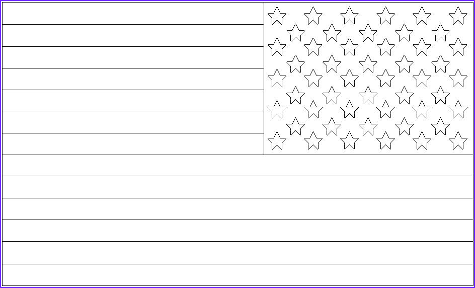 us flag pictures to color