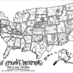 Us Map Coloring New Photos Usa Map Of State Flowers – Free Promotional Material For