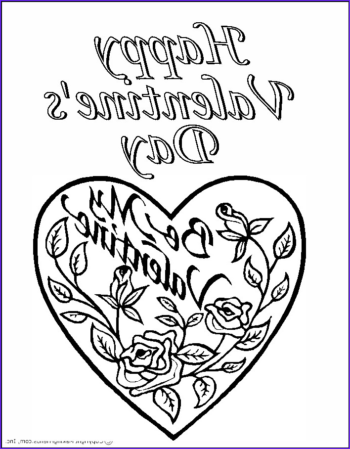 45 Awesome Gallery Of Valentine Day Coloring Pages Printable