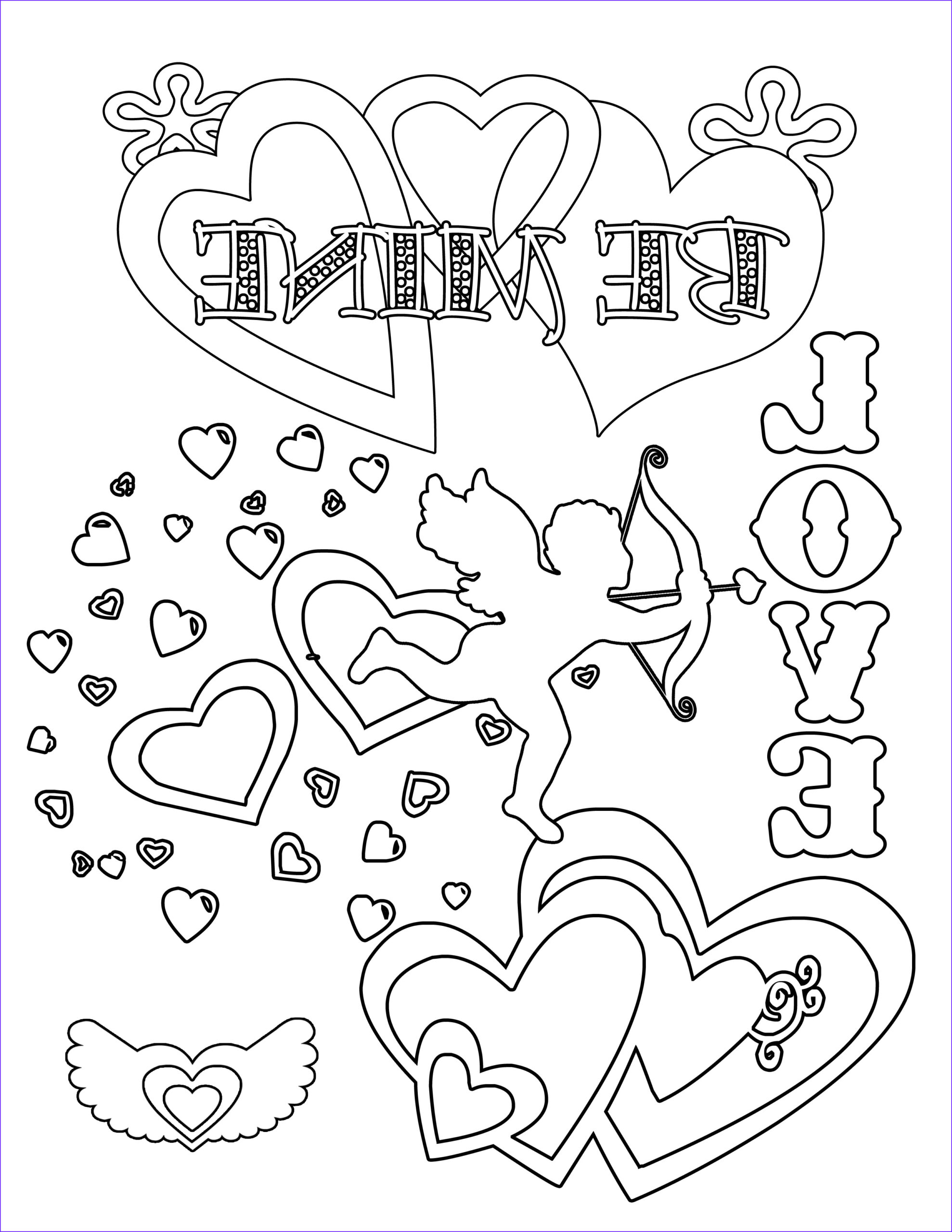 free valentines day coloring pages and printables