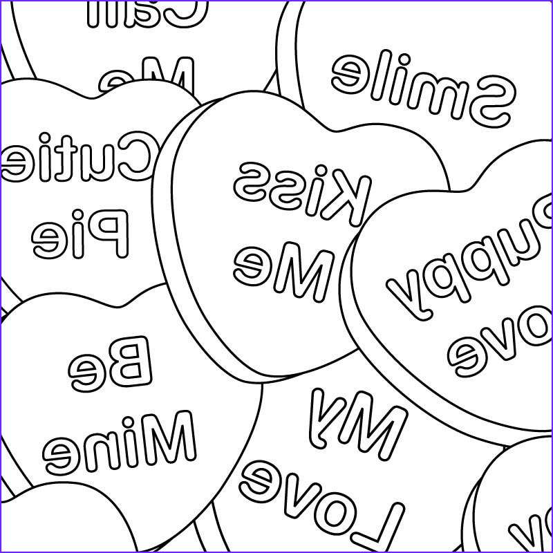 Valentines Day Coloring Pages Unique Collection Valentine Coloring Pages Handmade Cards