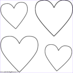 Valentines Day Hearts Coloring Pages Beautiful Photos Four Hearts Coloring Page Valentine S Day