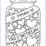 Valentines Day Hearts Coloring Pages Cool Gallery Candy Jar Coloring Page Valentine S Day