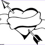 Valentines Day Hearts Coloring Pages Unique Image Free Heart With Arrow Download Free Clip Art Free Clip