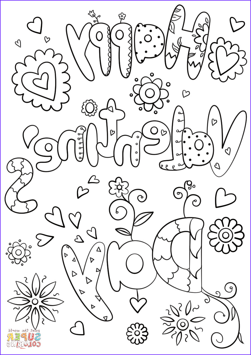Valentines Printable Coloring Pages Elegant Collection Happy Valentine S Day Coloring Page