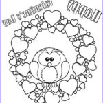 Valentines Printable Coloring Pages New Collection Printable Valentine Coloring Pages For Kids
