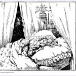 Vintage Coloring Books Beautiful Collection Sleeping Christmas Carol A Free Vintage Coloring Page