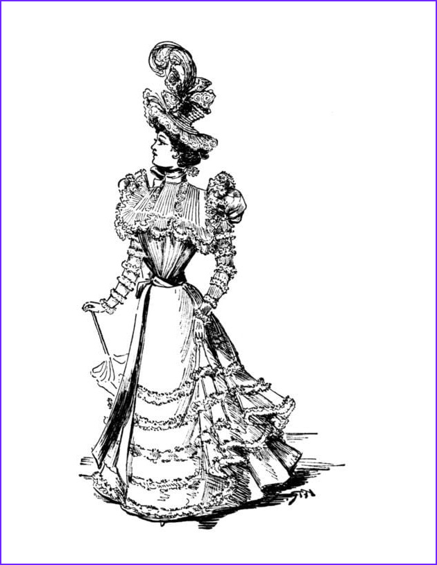 vintage women coloring book 5 victorian fashion plates late 1800s