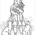 Vintage Coloring Books Elegant Photos Girl And Favorite Kitten A Free Vintage Coloring Page