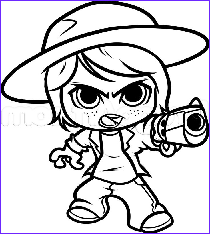 Walking Dead Coloring Page Awesome Photos Chibi Carl