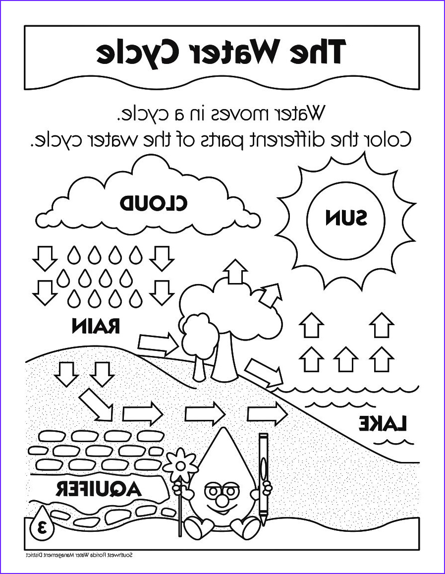 Water Cycle Coloring Pages Elegant Images Printable Water Cycle Coloring Pages Enjoy Coloring