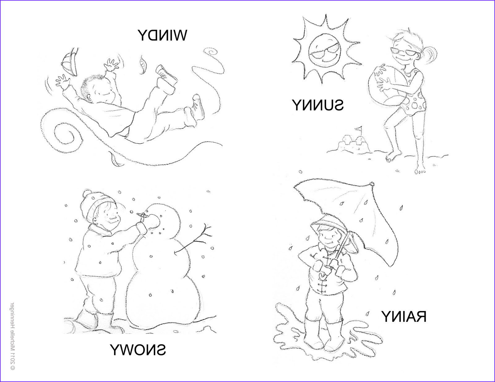 weather coloring sheet