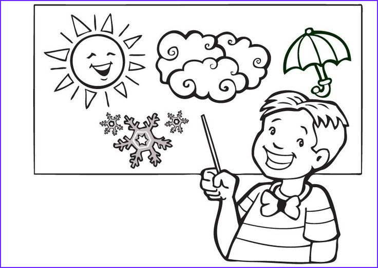 Weather Coloring Sheets Cool Collection the Best Weather Coloring Sheets Kindergarten