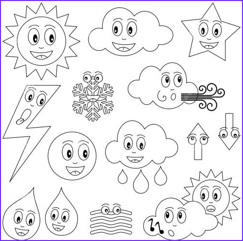 Weather Coloring Sheets New Photos 17 Best Images About Worksheets On Pinterest