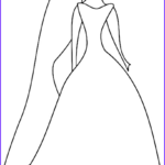 Wedding Dress Coloring Pages Best Of Collection Simple Outline Of Women In Her Wedding Dress