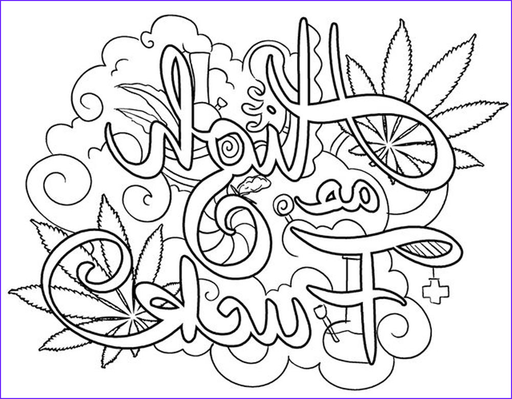 Weed Coloring Books Awesome Stock Weed Coloring Pages 420 Swear Words Free Printable